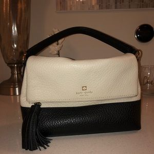 Kate Spade Black and White Leather Purse